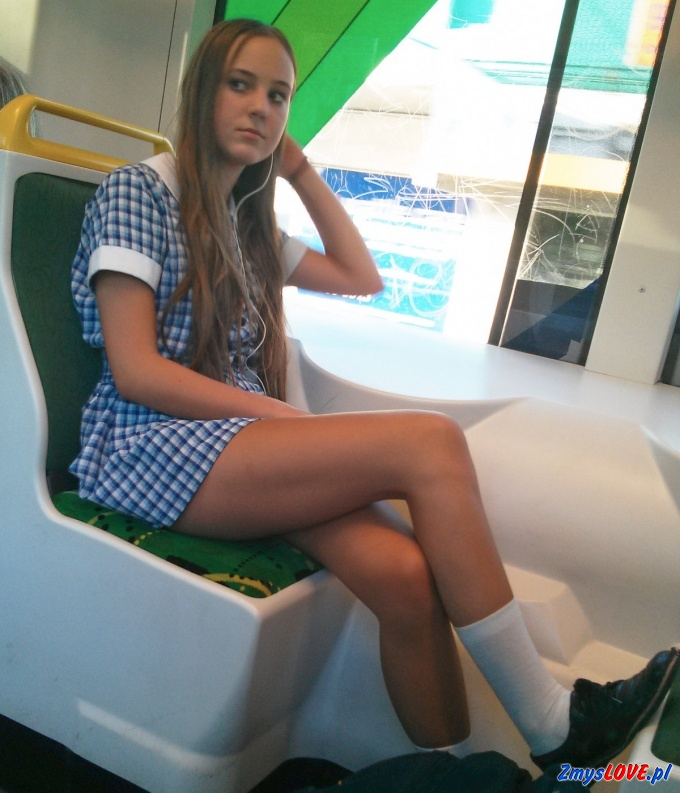 Emilia w pociągu